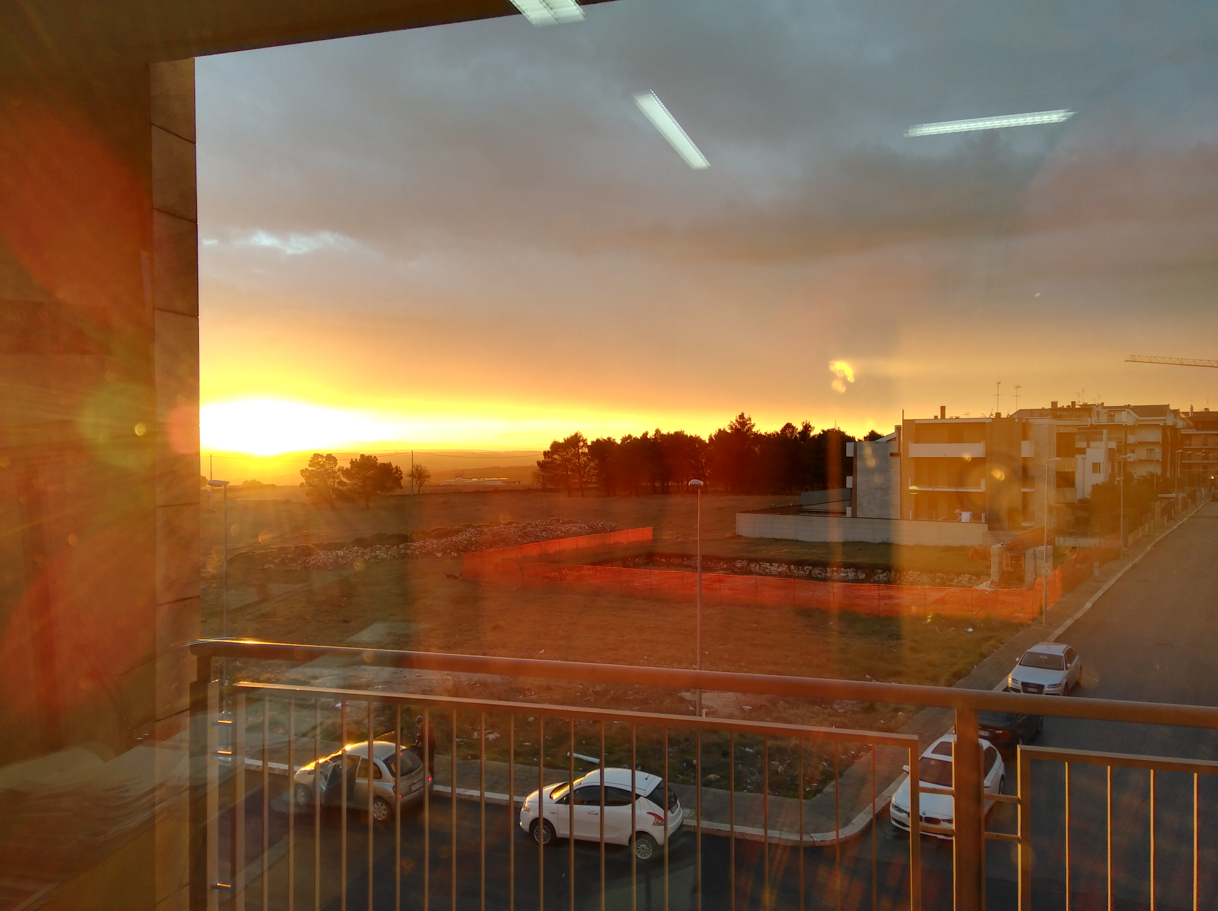 Foto al tramonto al chiuso